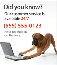 Il nostro servizio clienti è disponibile 24/7. Call us at (555) 555-0123.